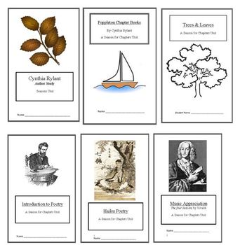 Seasons Unit: 6 Weeks of Lesson Plans {BUNDLED} ELA Unit w