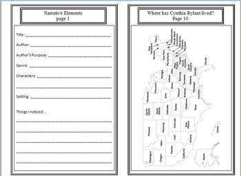 Seasons Unit: Cynthia Rylant(Week 1) Common Core Weekly Lesson Plan