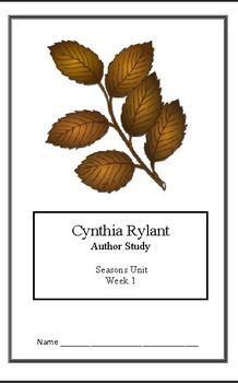 Seasons Unit: Cynthia Rylant(Week 1) Common Core Weekly Le