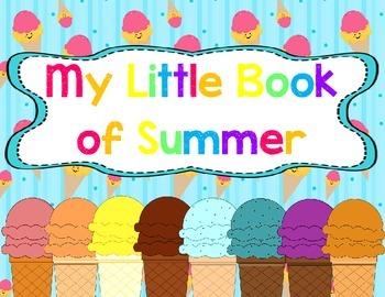 Seasons Unit: My Little Book of Summer Student Book