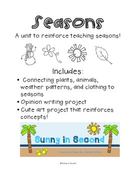Seasons Unit and Activities