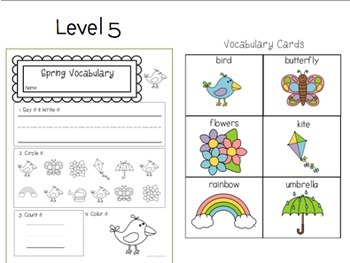 Seasons Vocab BUNDLE: Special Ed or Early Elementary No Prep Printable Pack