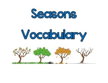 Seasons Vocabulary