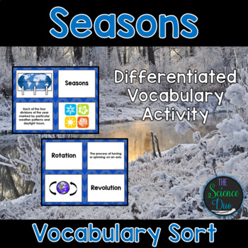 Seasons Vocabulary Sort