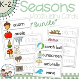 Seasons Vocabulary Word Wall Cards BUNDLE