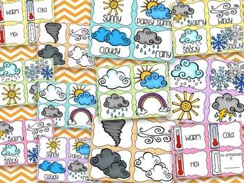 Seasons & Weather {Chevron Brights}