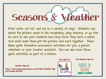Seasons & Weather Match