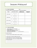 Seasons Webquest / Interactive Website Worksheet