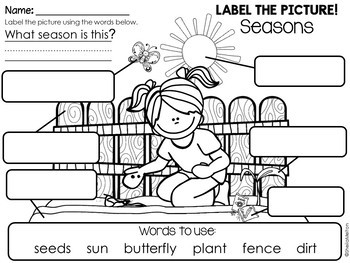 Seasons Label the Picture