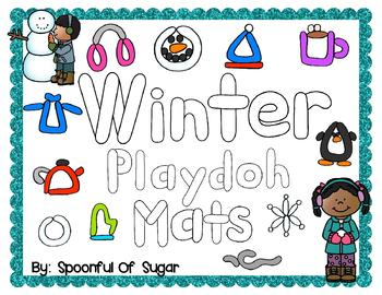Seasons: Winter Play-doh Mats