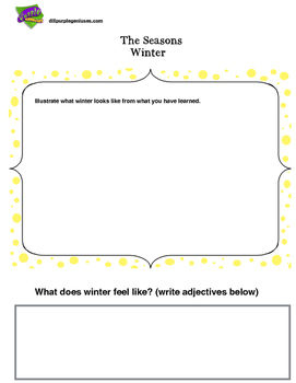 Seasons: Winter Writing Pages (1st -3rd)