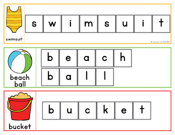 Seasons Word Letter Tiles Cards Bundle