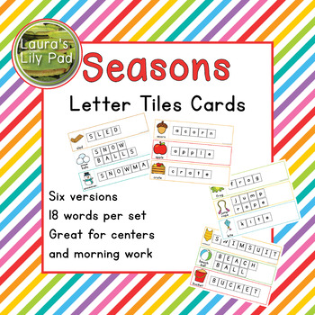 Seasons Word Letter Tiles Cards Bundle