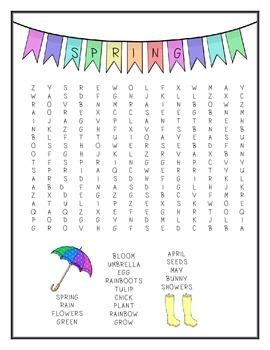 Seasons Word Search
