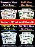 Seasons Word Wall Cards Bundle