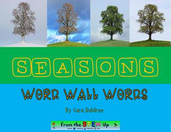 Seasons Vocabulary Word Wall Words