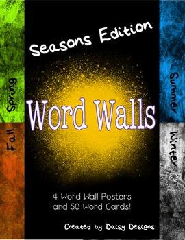 Seasons Word Walls (Spring, Summer, Fall, Winter)