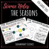 Seasons Worksheet - Earth's Tilt Doodle Notes for 4th Grade Texas Science TEKS