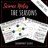 Seasons Worksheet - Earth's Tilt Doodle Notes for 4th Grad