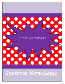 Seasons Worksheets
