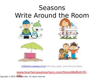 Seasons Write Around the Room