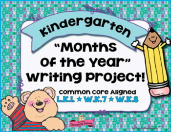 Seasons - Writing Activity ~Months of the Year~Kinder L.K.1~W.K.7~W.K.8