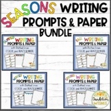 Four Seasons Writing Prompts and Writing Paper Bundle with