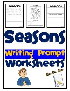 Seasons Writing Prompt Worksheets