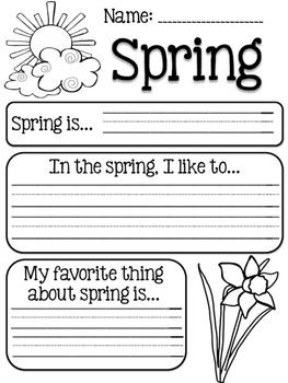 Seasons Writing Prompts Bundle