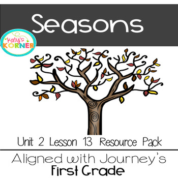 Seasons aligned with Journeys 2017 1st Grade Unit 3 Lesson 13