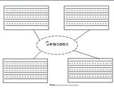 Seasons and Blank Graphic Organizer