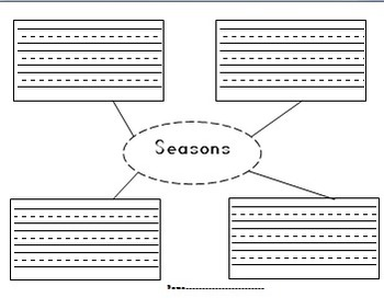 Seasons and Blank Graphic Organizer