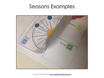 Seasons Interactive Notebook Pages