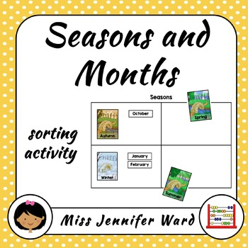 Seasons and Months Sorting  Activity