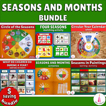 Seasons and Months Cards Printables Bundle