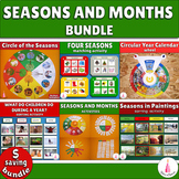 Seasons and Months Cards Montessori Bundle