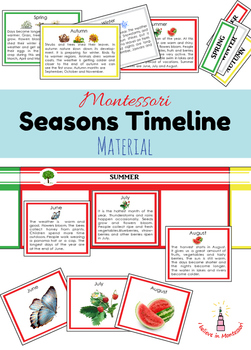 Seasons and Months Timeline Cards / Line of the Year
