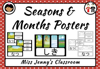 Seasons and Months Posters