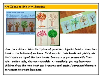 Seasons and Months Sort Package - art activities - online games