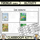 Seasons and Months Sorting Activity (French : Euro)