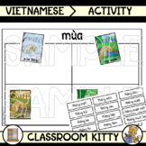 Seasons and Months Sorting Activity : Vietnamese