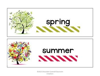 Seasons and Weather Back to School Set