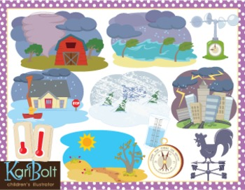 Seasons and Weather Bundle Clip Art