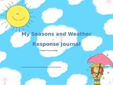 Seasons and Weather Packet: Kindergarten ELA Domain 8