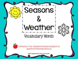 Seasons and Weather Vocabulary Words