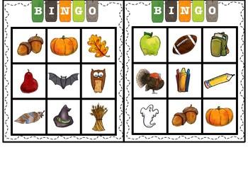 Seasons bingo bundle (basic vocabulary practice)