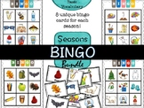 Seasons bingo bundle (basic vocabulary practice)