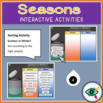 Seasons interactive activities