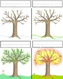 Seasons coloring page