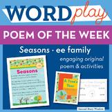 Seasons - ee Word Family Poem of the Week - Long Vowel E Fluency Poem